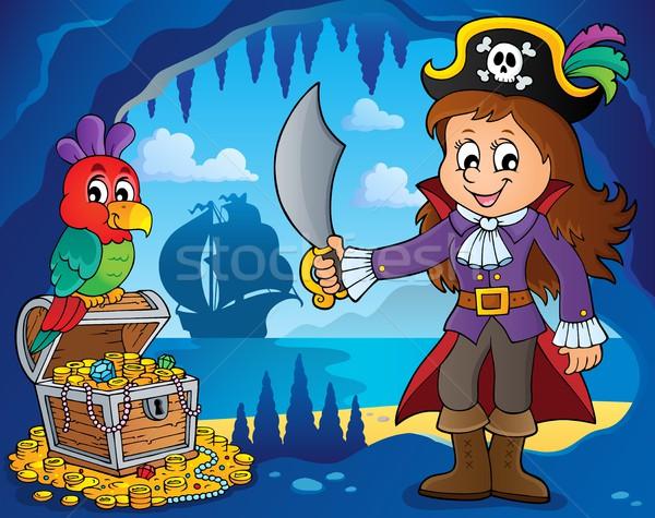 Pirate girl theme image 2 Stock photo © clairev
