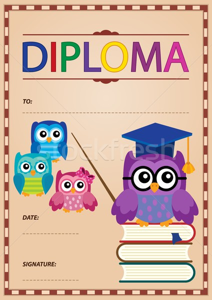 Diploma thematics image 4 Stock photo © clairev