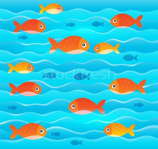 стилизованный тема изображение морем дизайна Сток-фото © clairev