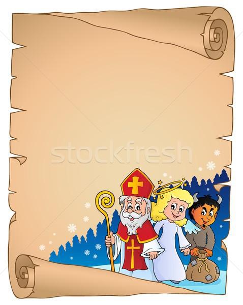 święty dzień pergamin papieru sztuki anioł Zdjęcia stock © clairev