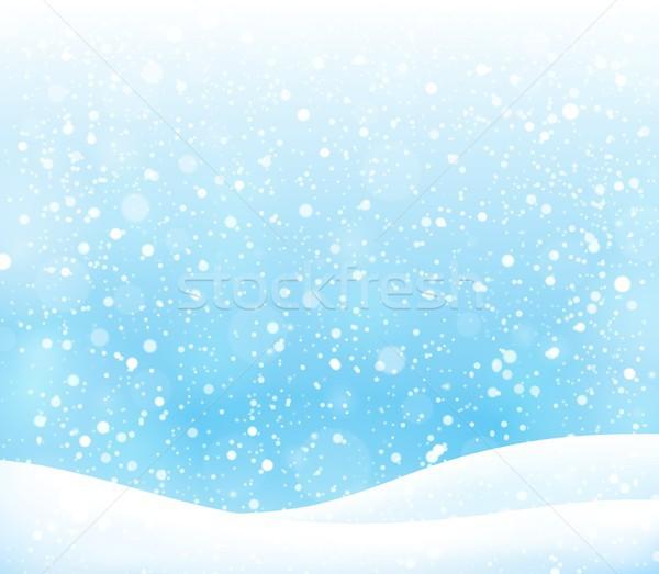 Streszczenie śniegu temat charakter tle sztuki Zdjęcia stock © clairev