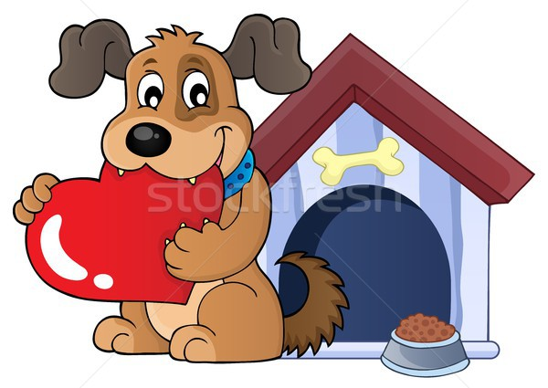 Valentine dog theme image 3 Stock photo © clairev