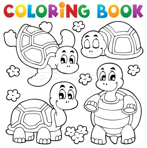 Carte De Colorat Broască ţestoasă Zâmbet Carte
