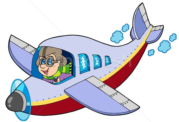 Cartoon aviator Stock photo © clairev