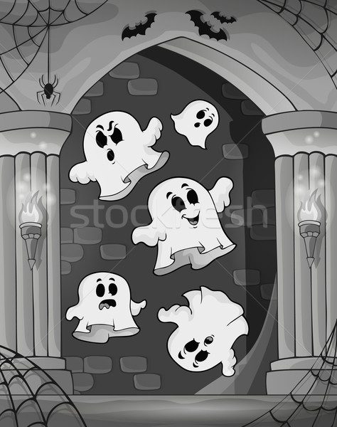 Black and white alcove and ghosts 2 Stock photo © clairev