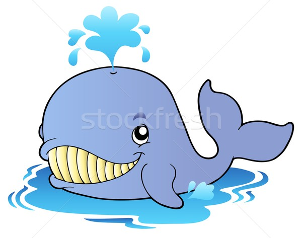 Big cartoon whale Stock photo © clairev
