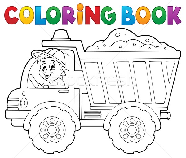 Coloring book sand truck theme 1 Stock photo © clairev