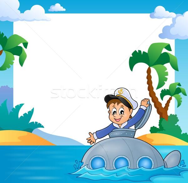 Frame matroos onderzeeër water metaal kunst Stockfoto © clairev