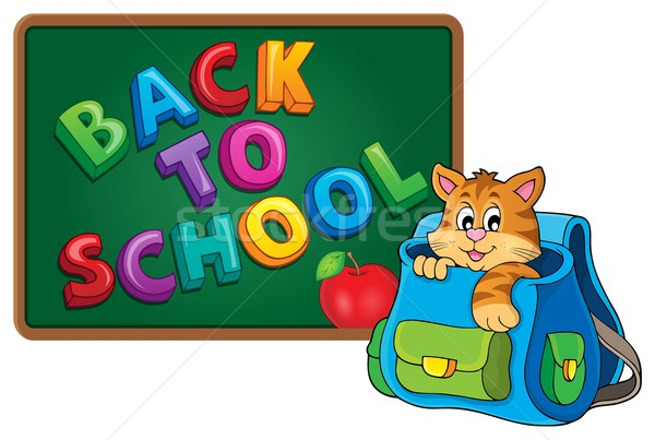 Cat in schoolbag theme image 3 Stock photo © clairev