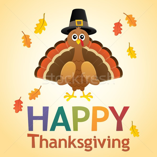 Happy Thanksgiving theme 6 Stock photo © clairev
