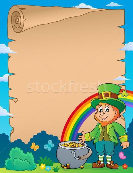 Leprechaun theme parchment 1 Stock photo © clairev