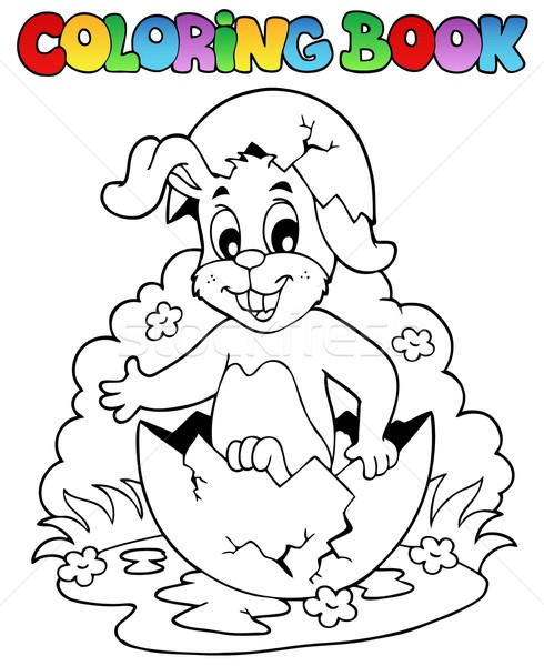 Coloring book with Easter theme 5 Stock photo © clairev