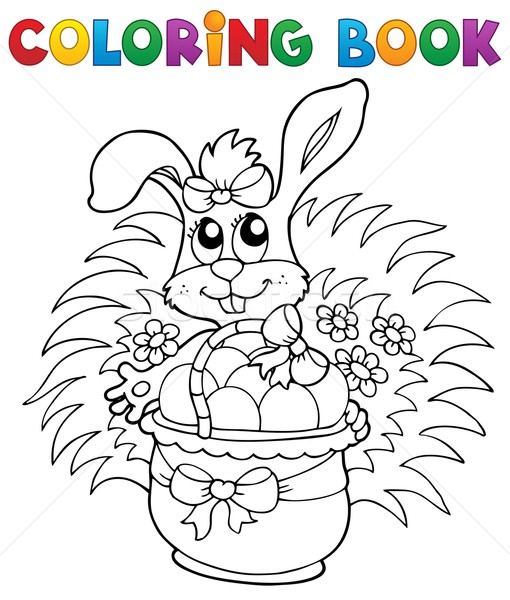 Coloring book with Easter theme 9 Stock photo © clairev
