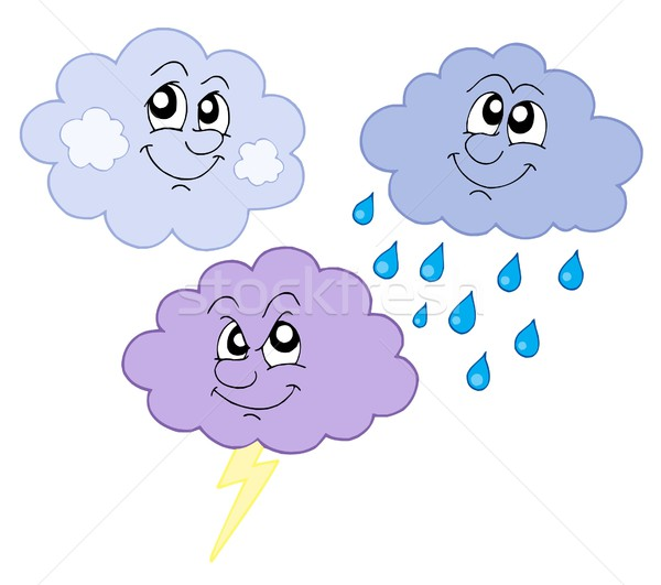 Various cute clouds vector illustration Stock photo © clairev