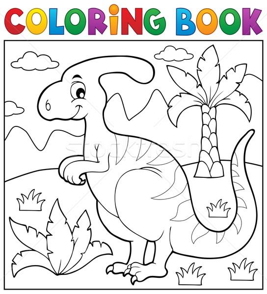 Coloring book dinosaur theme 4 Stock photo © clairev
