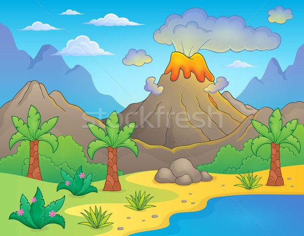 Prehistoric theme landscape 1 Stock photo © clairev