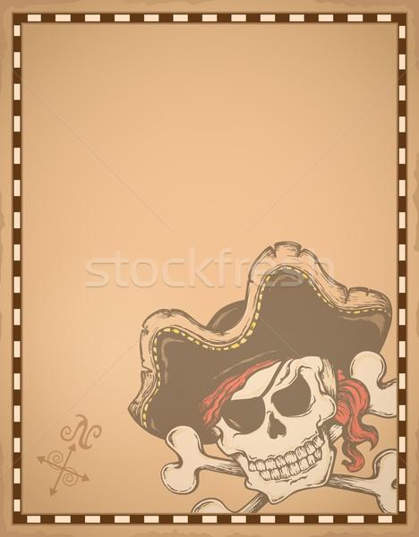 羊皮紙 海賊 芸術 レトロな 帽子 スタイル ストックフォト © clairev