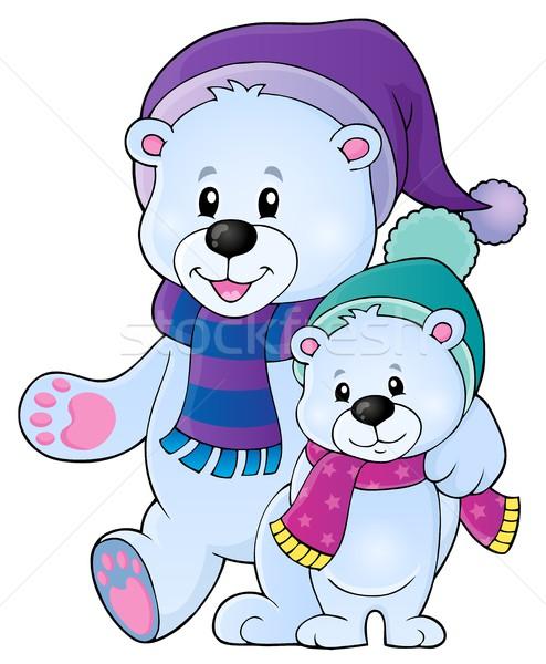 Stylized polar bears theme image 1 Stock photo © clairev