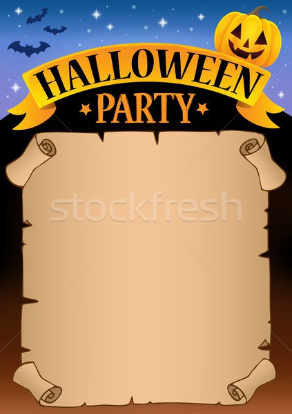 Хэллоуин вечеринка пергаменте звездой осень документа Сток-фото © clairev