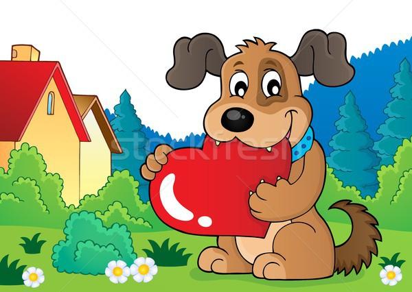 バレンタイン 犬 画像 愛 幸せ 芸術 ストックフォト © clairev