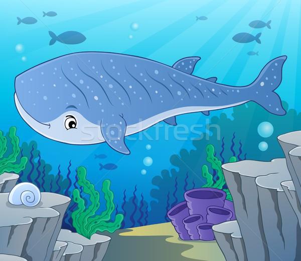 Bálna cápa kép hal tenger művészet Stock fotó © clairev