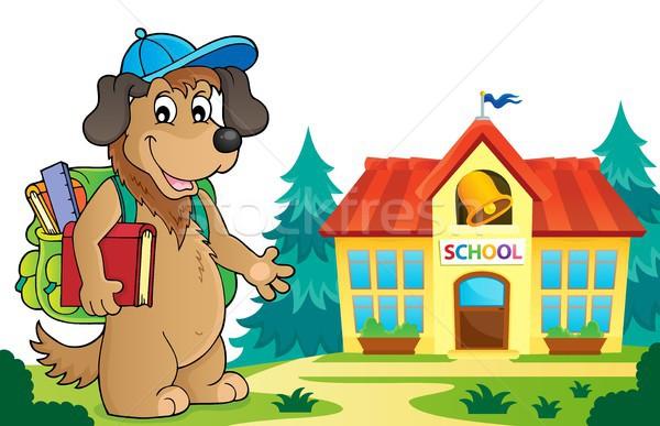 Сток-фото: школы · собака · изображение · книга · искусства · животного