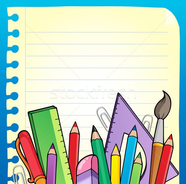 блокнот пустая страница канцтовары бумаги школы искусства Сток-фото © clairev