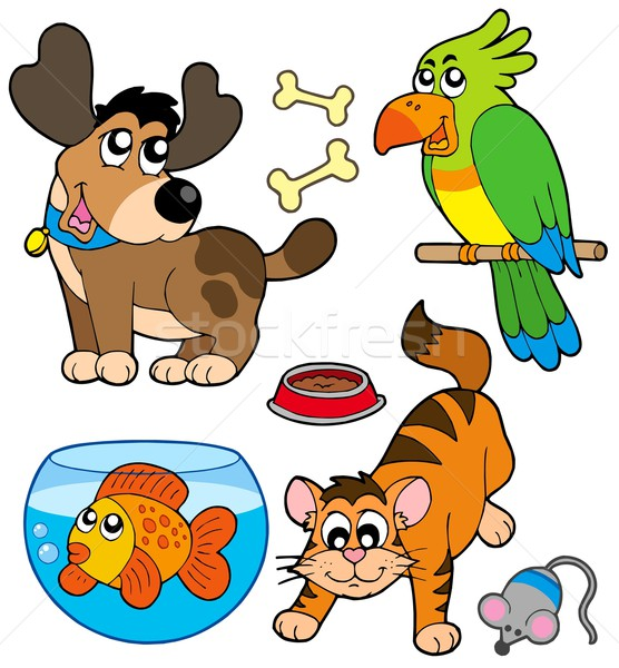 Cartoon pets collection Stock photo © clairev