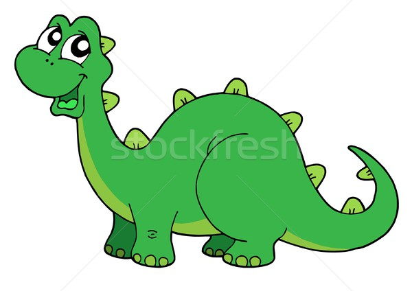 Cute dinosaur vector illustration Stock photo © clairev