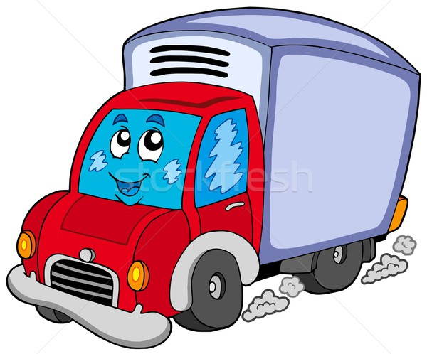 Cute delivery car Stock photo © clairev