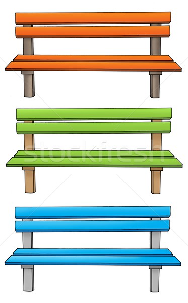 Three various benches Stock photo © clairev