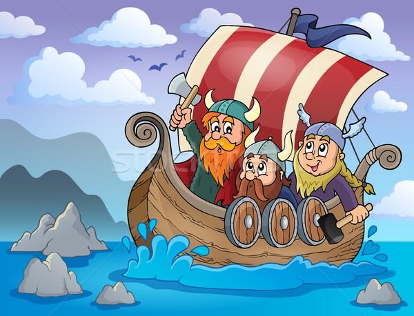 Viking ship theme image 2 Stock photo © clairev