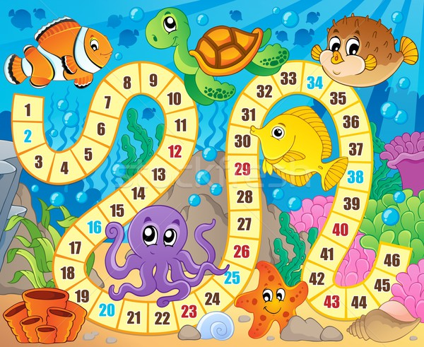 Board game image with underwater theme 1 Stock photo © clairev