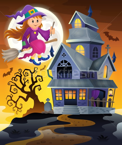 Image with haunted house thematics 9 Stock photo © clairev