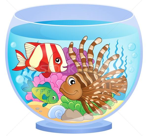 аквариум тема изображение воды рыбы дизайна Сток-фото © clairev
