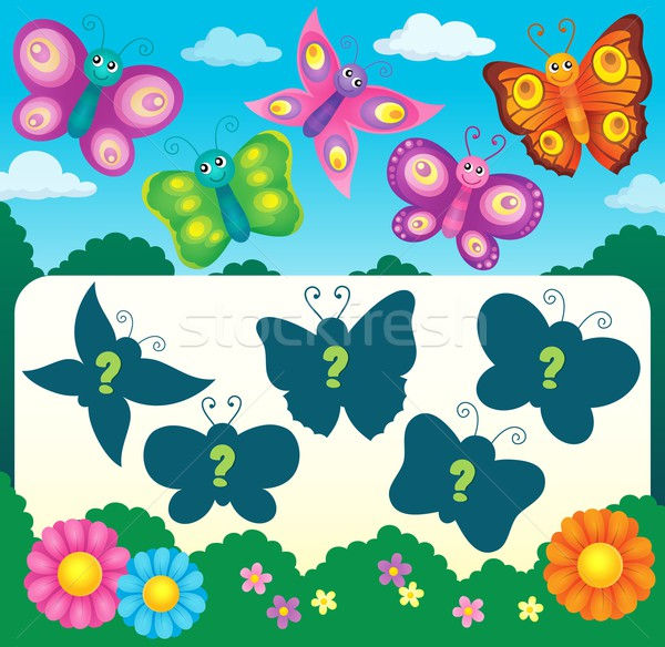 Butterfly riddle theme image 3 Stock photo © clairev