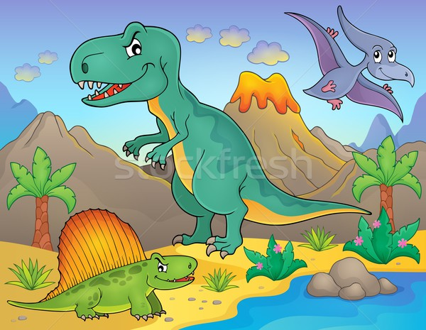 Dinosaur topic image 4 Stock photo © clairev