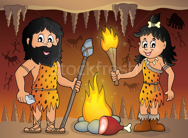 Cave people theme image 1 Stock photo © clairev