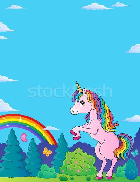 Standing unicorn theme image 2 Stock photo © clairev