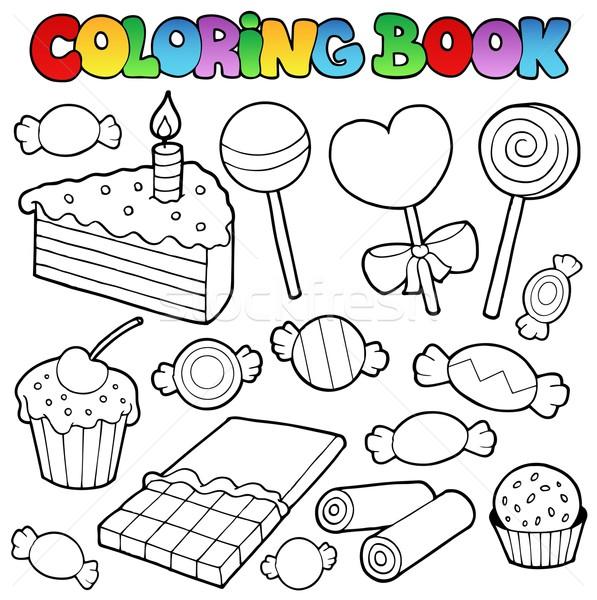 Coloring book candy and cakes vector illustration © Klara Viskova ...