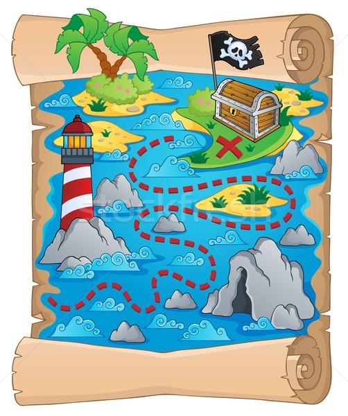 Карта сокровищ изображение бумаги дизайна океана рок Сток-фото © clairev