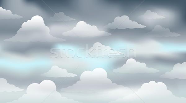 ストックフォト: 曇った · 空 · 画像 · 雲 · デザイン · 天気
