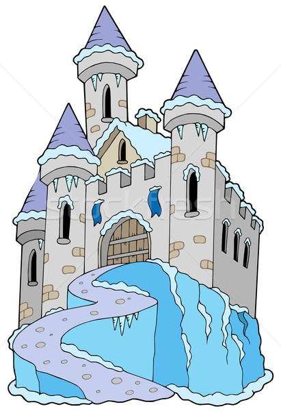 Frozen castle Stock photo © clairev