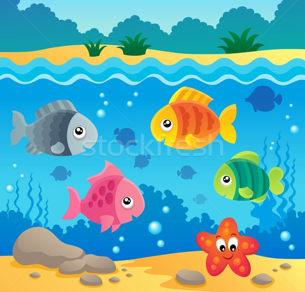 Underwater ocean fauna theme 2 Stock photo © clairev