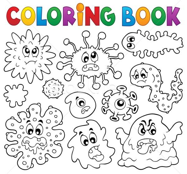 Kifestőkönyv bacilusok könyv arc szemek absztrakt Stock fotó © clairev
