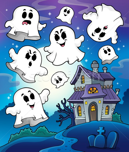 Haunted house theme image 6 Stock photo © clairev