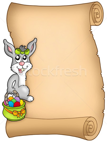 Easter parchment with bunny Stock photo © clairev