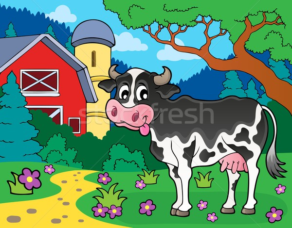 Cow theme image 3 Stock photo © clairev