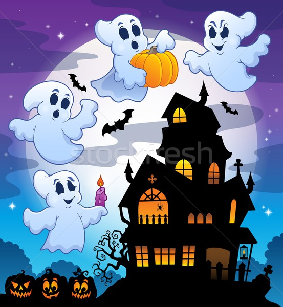 Haunted house silhouette theme image 3 Stock photo © clairev
