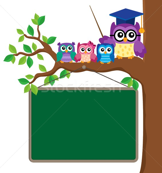 Stylized school owl theme image 6 Stock photo © clairev